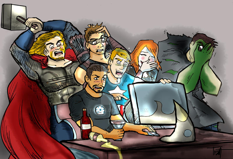 The Avengers Discover Fan-Art by TRALLT
