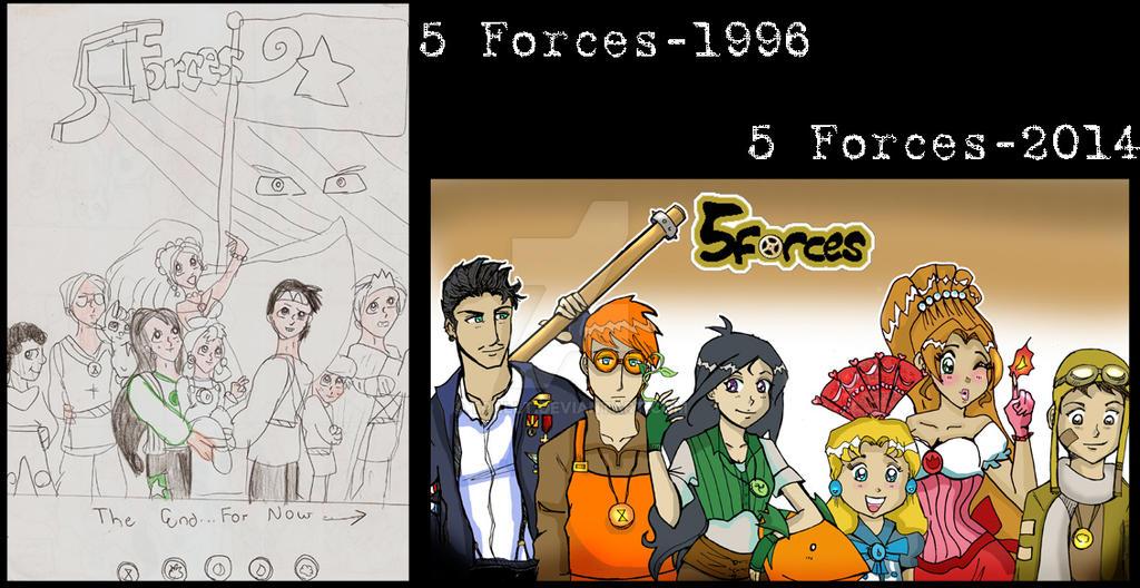 5 Forces, My 7th Grade Fantasy Manga by TRALLT