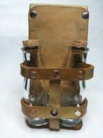 Steampunk Belt Bottle Holder by deadlanceSteamworks