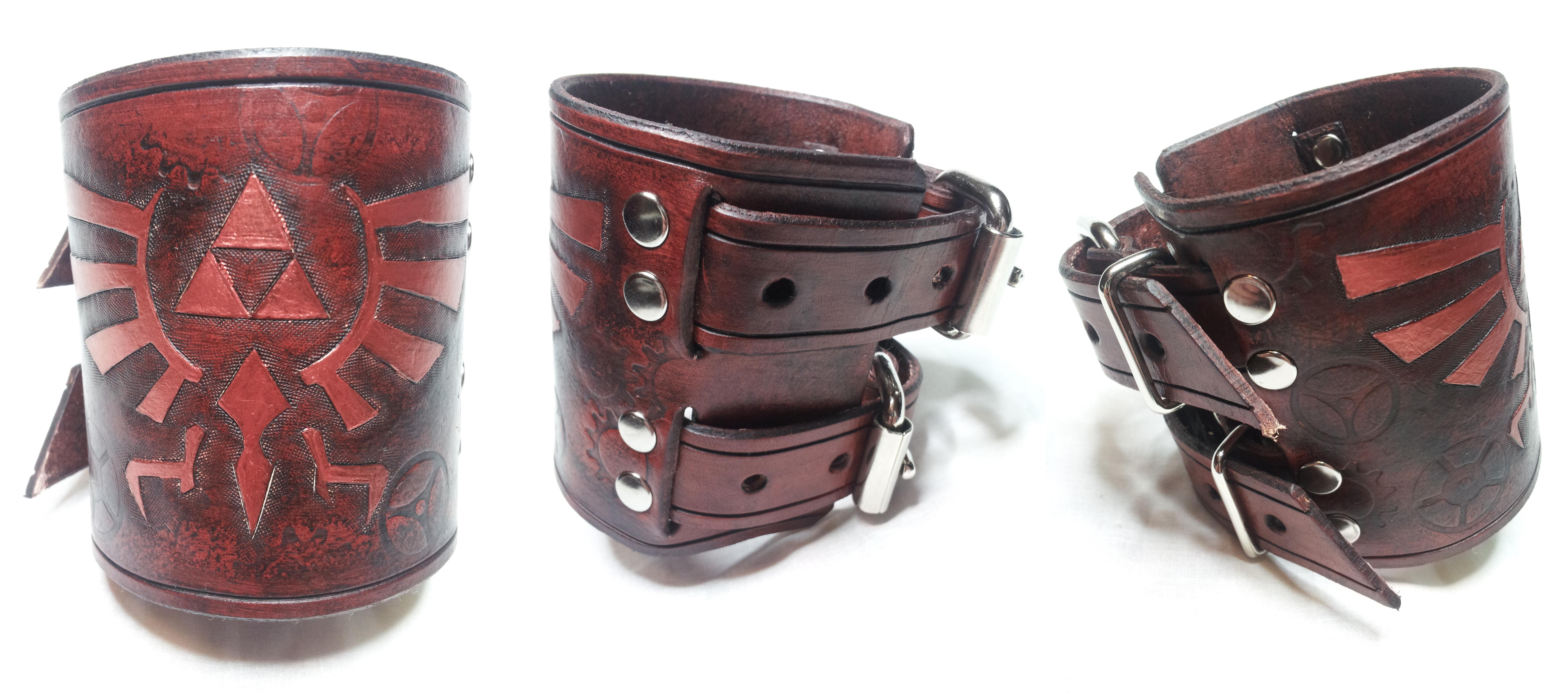 Steampunk Legend of Zelda Bracelet / Wrist Cuff by deadlanceSteamworks