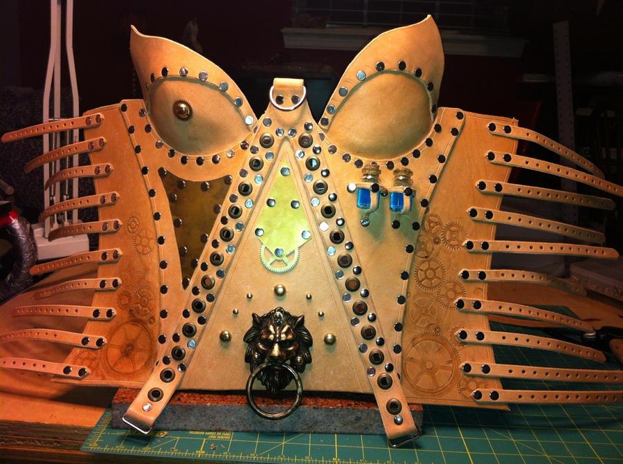 Anna's Steampunk Corset - WIP by deadlanceSteamworks