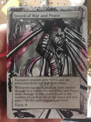 Sword of War and Peace Magic the Gathering Alter by deadlanceSteamworks