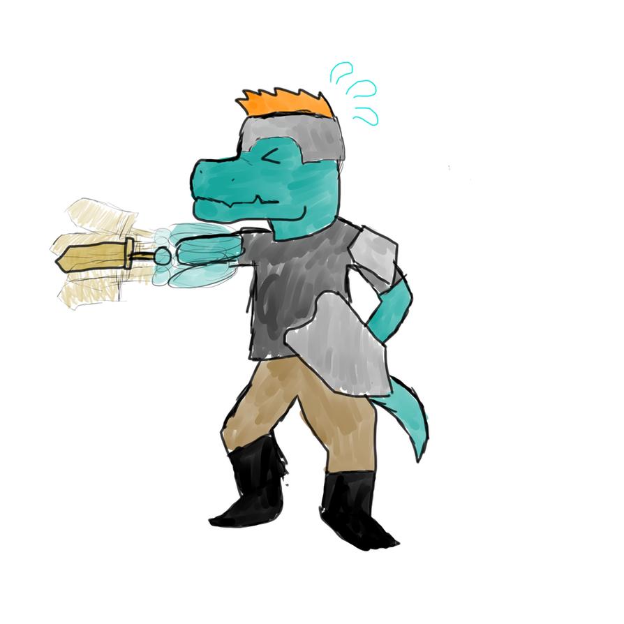 Reptilian swordsman by Animatorist