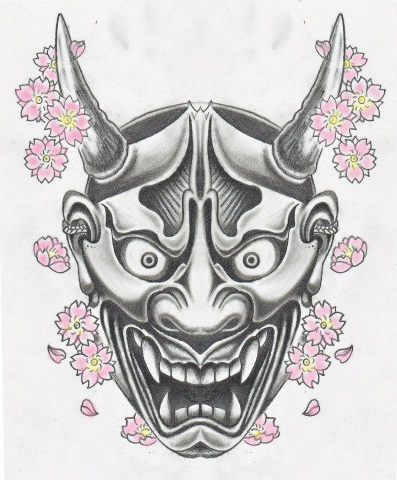 It is a photo of Genius Japanese Mask Drawing