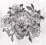 Sugar Skull and roses