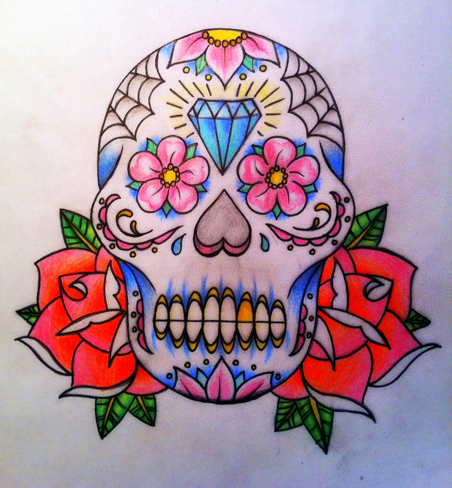 CalebSlabzzzGraham Day Of The Dead Skull Sugar By