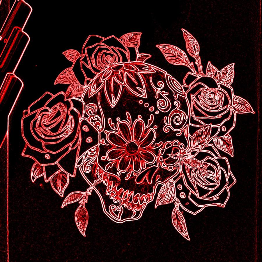 Sugar Skull And Roses Wallpaper Fitrini S Wallpaper