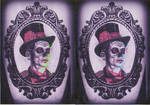 day of the dead Man in Frame tattoo deisgn