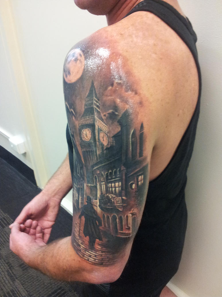 London street theme tattoo by calebslabzzzgraham on deviantart for Tattoo shops in london
