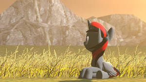 [SFM-pony] Enjoy the view on the hill by StormyScratch