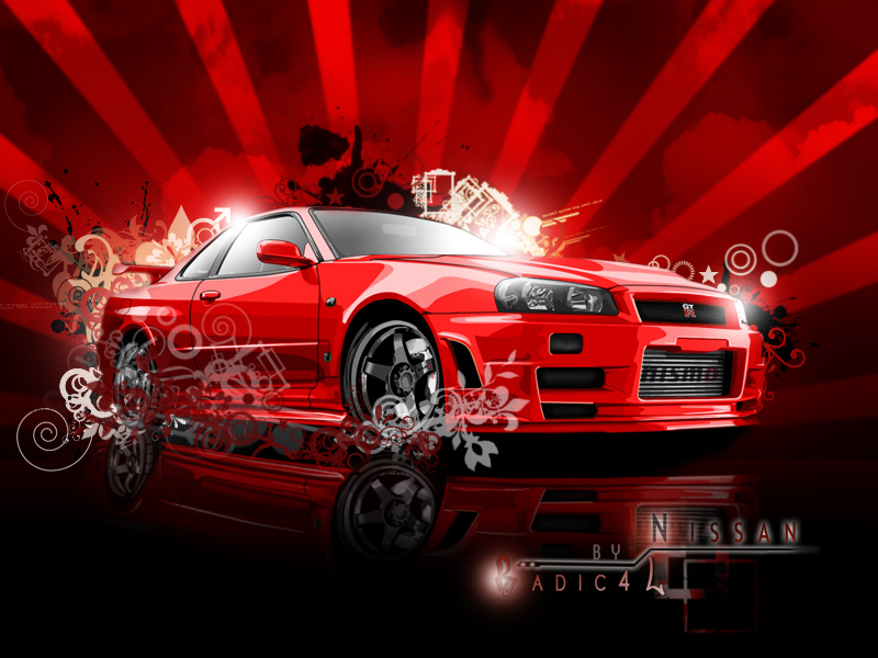 Red Nissan Gtr Wallpaper Pictures