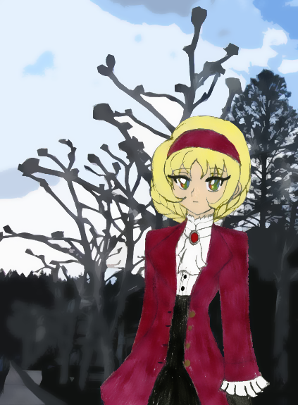 Yula at the Wintery Park by Chicken-Yuki