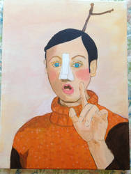 Pinocchio The Real Boy (Acrylic Painting)