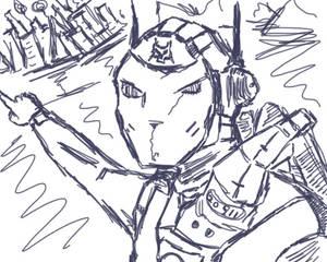 One go, no erasing or editing Sketch
