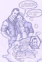 Suits Harvey x Mike doodle by puking-mama
