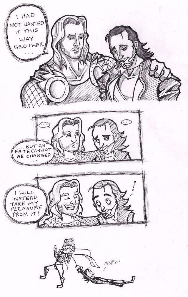 Thor x Loki Avengers mild spoiler but not really by puking ...