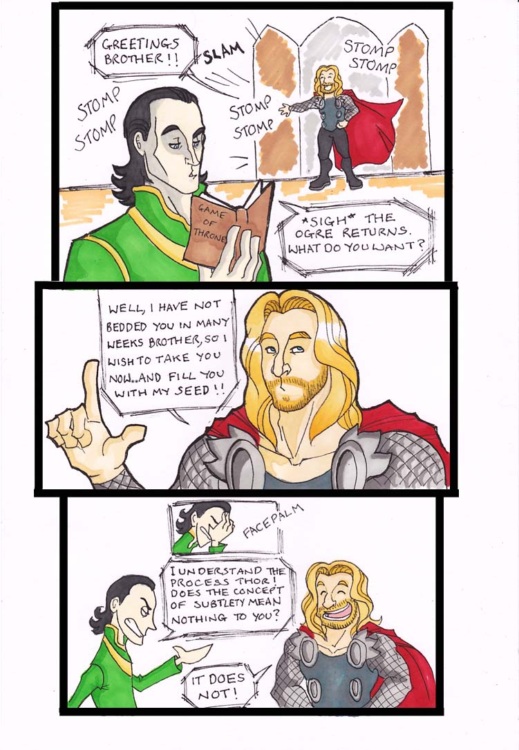 Thor x Loki - Too Much Info by puking-mama on DeviantArt