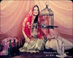 Harem girl with a bird cage