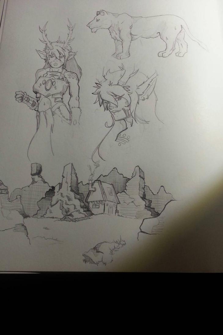 sketch dump by pharaohsarmy