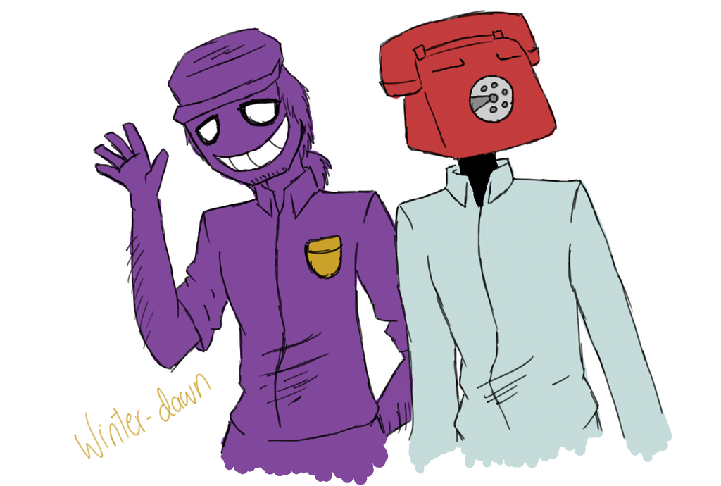 Phone guy and purple guy by winter dawn on deviantart