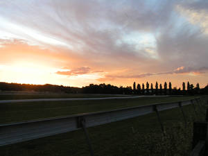 Sunset over the racetrack