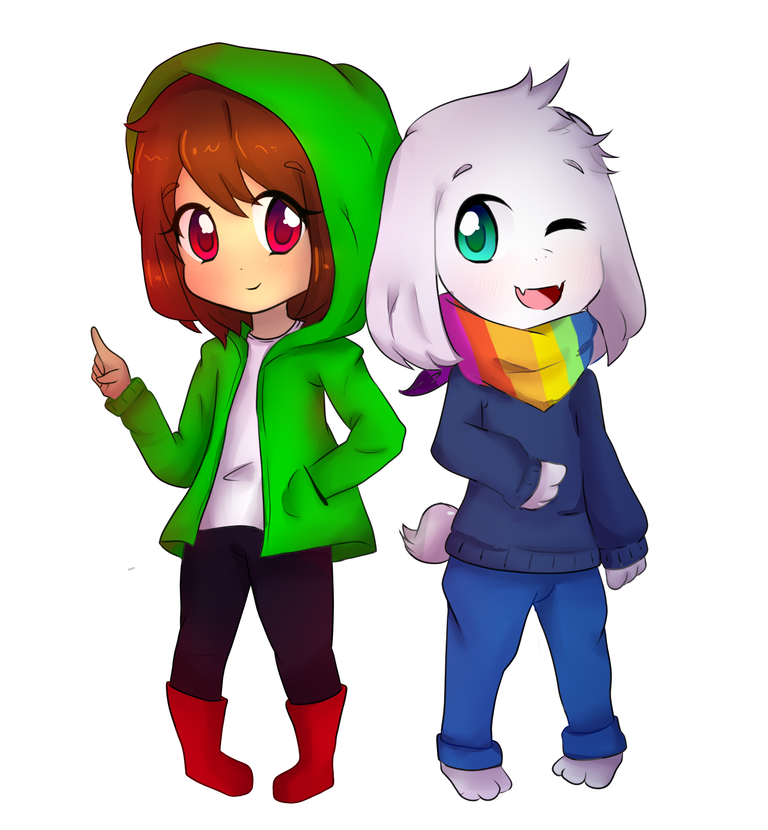 STORYSHIFT - Chara and Asriel by CrystalKazeame19 on