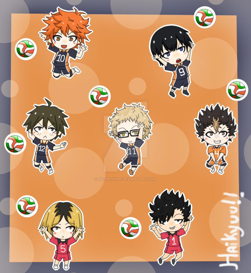 Haikyuu!! [Sticker Set] by Shiemi-Hime