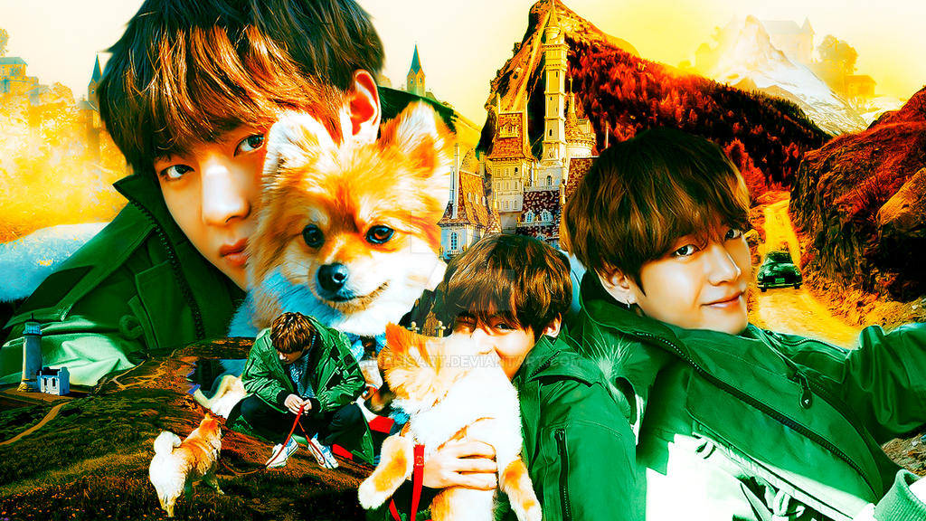 Bts Wallpaper 003 V Kim Taehyung And Puppy By Hikarisart On Deviantart