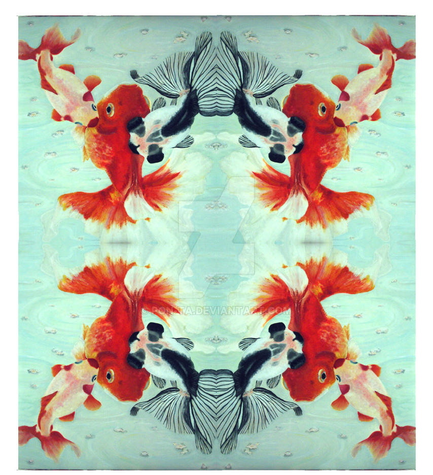 Goldfish kaleidoscope pattern1 by Pon-Ta