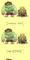 Movie Time::The Hulk and Thor