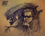 Alien-Giger sketch