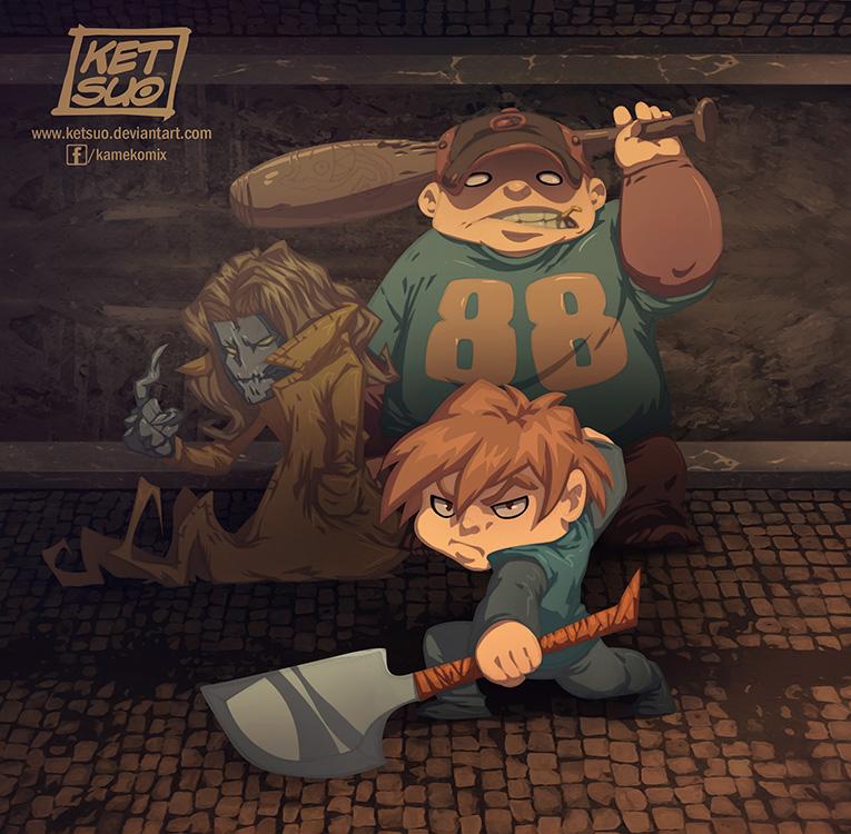 The Trio by KetsuoTategami