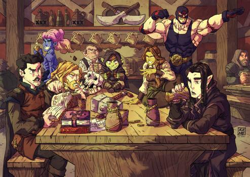 The gang at the tavern