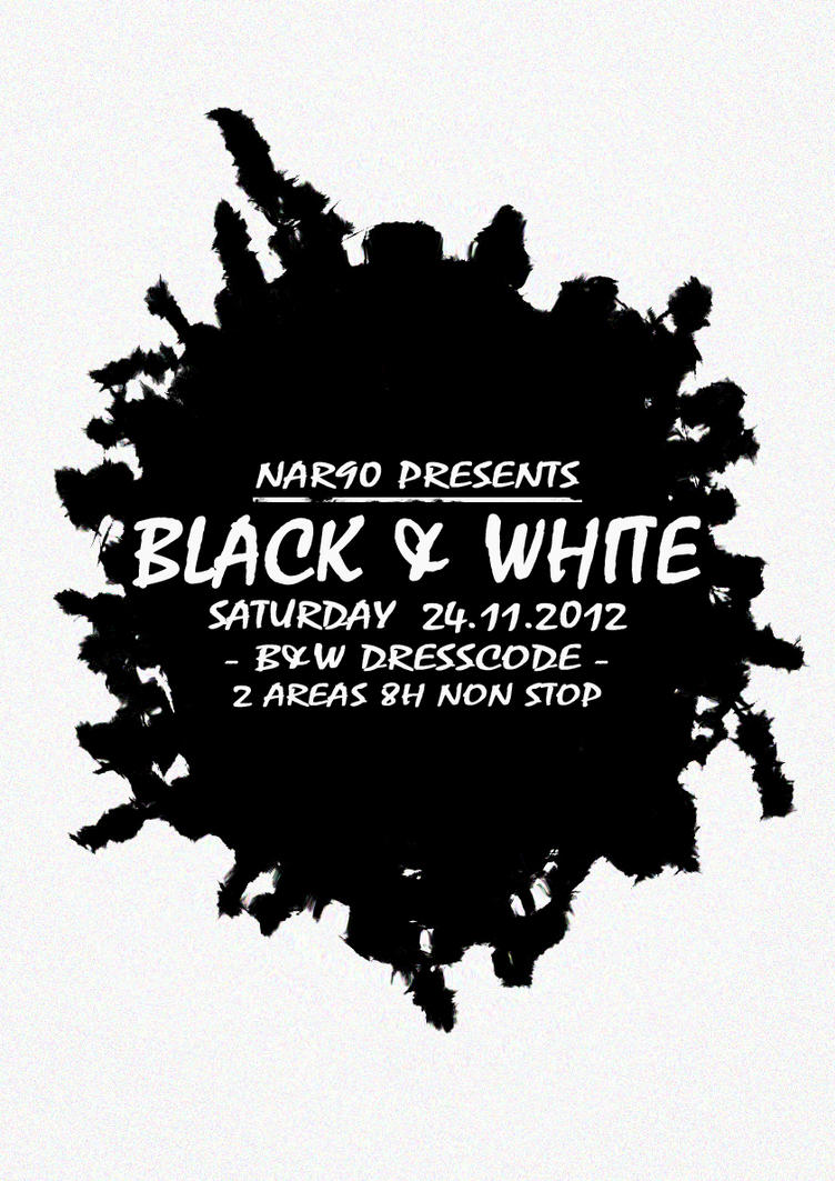 NAR90blackandwhite - posterBE - FloAlmeida by WeegeeWorld