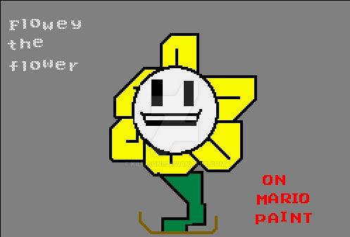Is Flowey in Mario Paint (SNES) by kill-soni