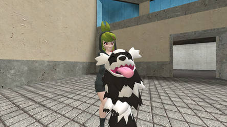 Melony and his pet