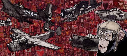 Monkey Plane by Jeremy-Forson