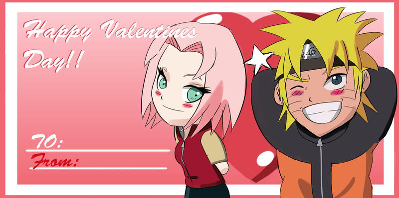 Narusaku Valentines Card by Sanin2