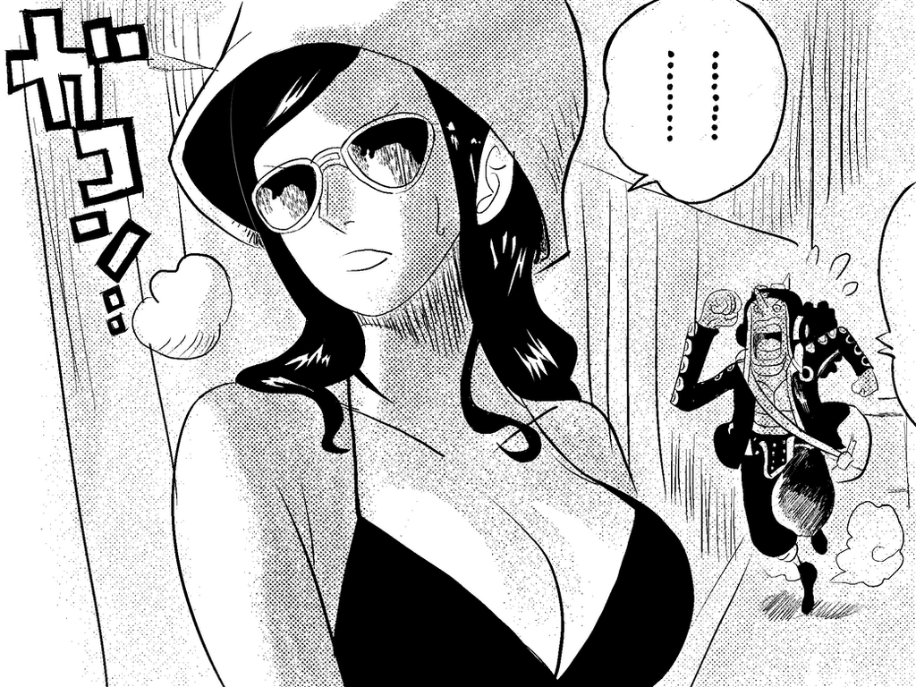 Clip Studio Paint Inking Test- One Piece Panel. By Sanin2