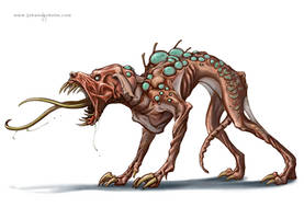 Canis Xenomorphis by priapos78