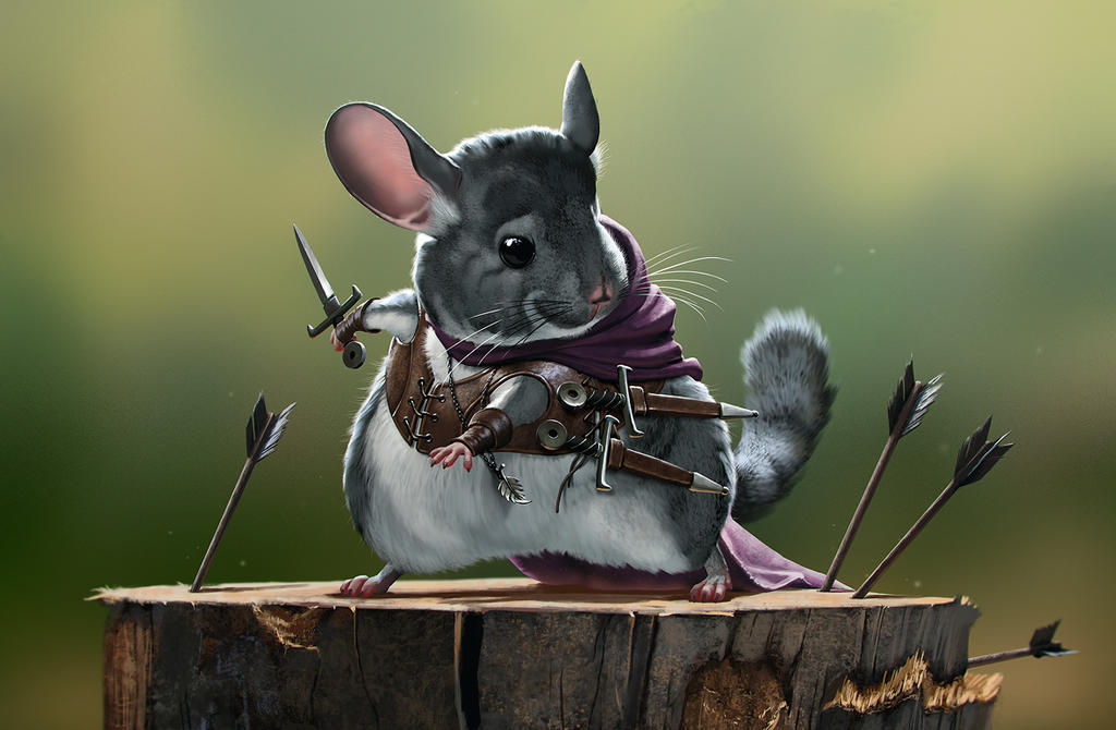 the rodents assassin chinchilla by priapos78