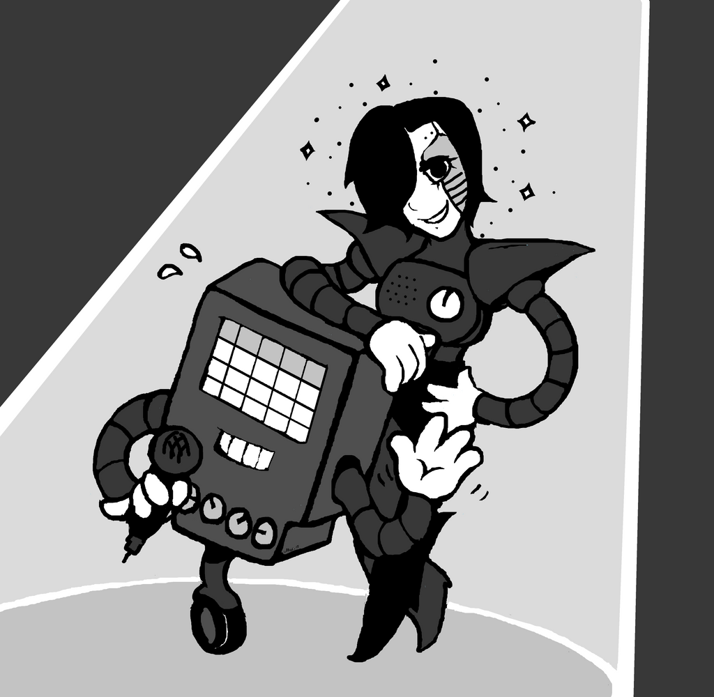 Playable Characters Mettaton_from_undertale_by_mirandamaija-d9a8y8c