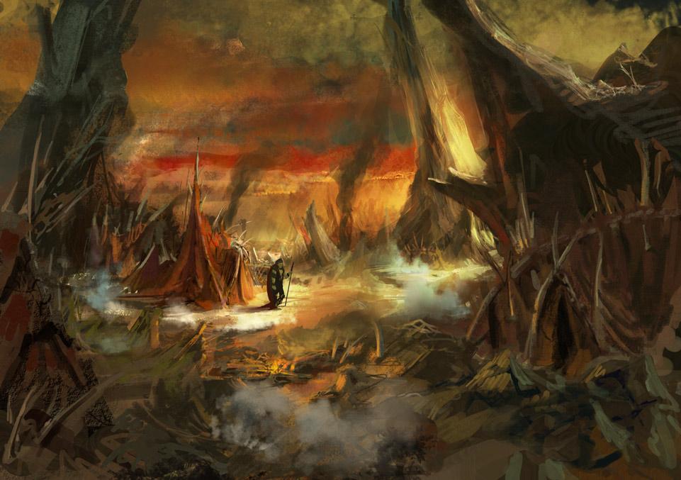 Barbarian camp concept 1 by artozi
