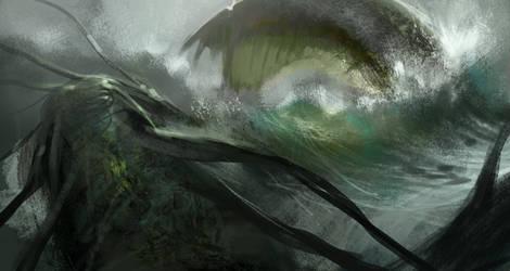 Sea monster by artozi