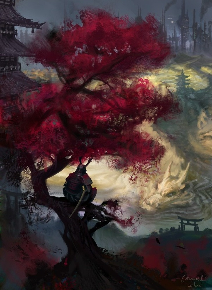 Samurai meditation by artozi on deviantart - Meditation art wallpaper ...