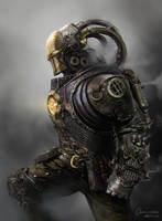 Steampunk Iron Man by artozi