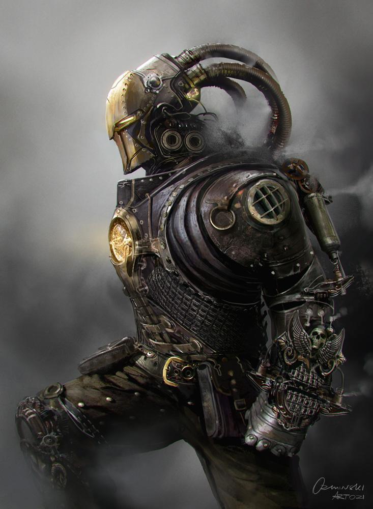 Steampunk Iron Man by artozi