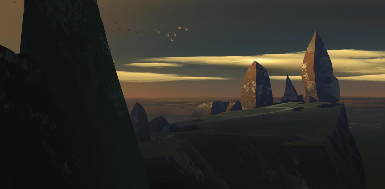 House between rocks by artozi