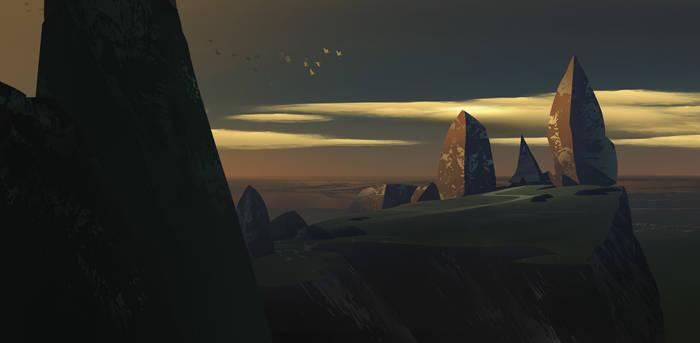 House between rocks