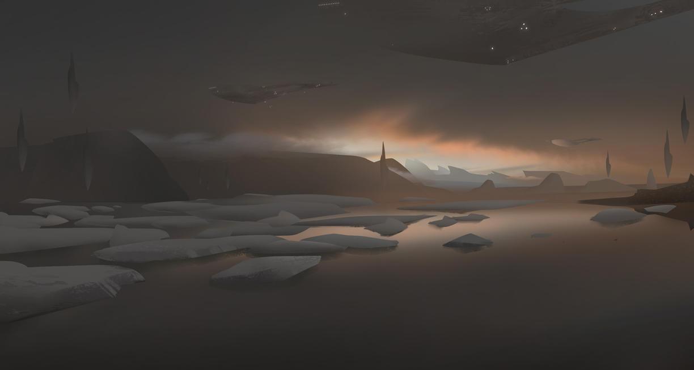 Ice Sunset by artozi